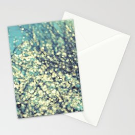ice bokeh Stationery Cards