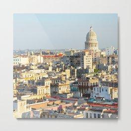 Capitolio-Nacional-Havana-Cuba- Metal Print