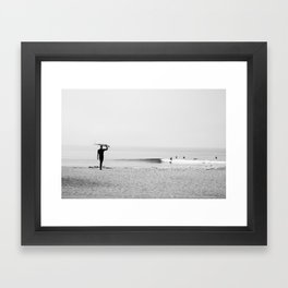 Surf Malibu Framed Art Print