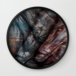 Close Your Eyes, You'll Be Better Off. Wall Clock