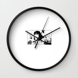Iconic Women: Mia Wallace Wall Clock