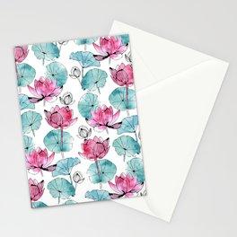 Waterlily buds Stationery Cards