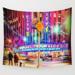 Radio city Wall Tapestry