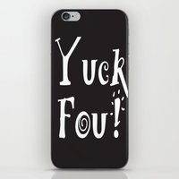 foo fighters iPhone & iPod Skins featuring Yuck Foo! Reversed by Andrea Jean Clausen - andreajeanco