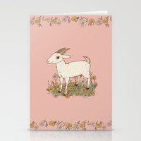 goat Stationery Cards featuring GOAT by Gwendolyn Wood