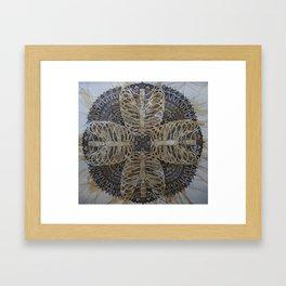 Ribcage Mandala Framed Art Print
