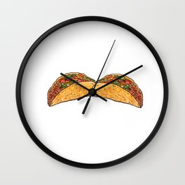 My Tacos Are the Best Graphic Mexican T-shirt Wall Clock