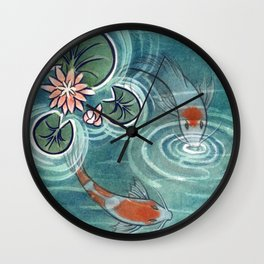 Koi 2 Wall Clock