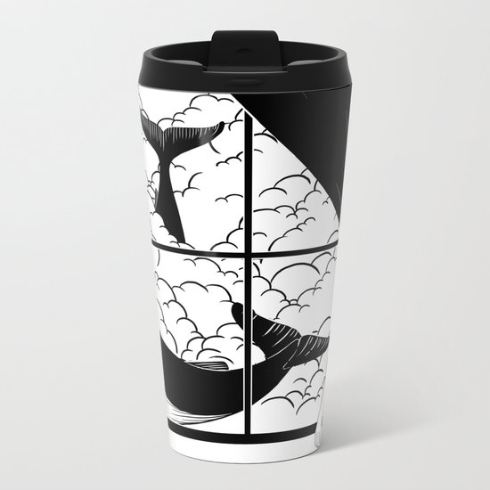 Flying in the ocean, Swimming in the sky Metal Travel Mug