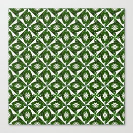 Geometric Tessellation Green Canvas Print