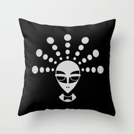 Alien men in black Throw Pillow