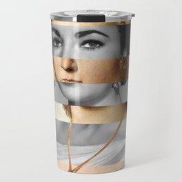 Raphael's Young Woman with Unicorn & Elizabeth Taylor Travel Mug