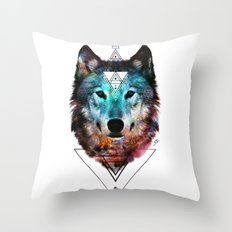 Sacred Wolf Throw Pillow