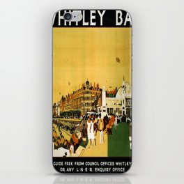 retro Whitley Bay travel poster iPhone Skin