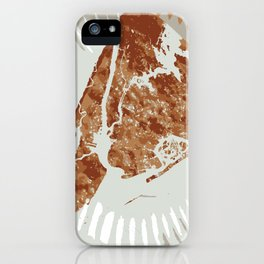Pizza Map iPhone Case