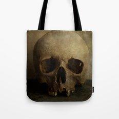 Male skull in retro style Tote Bag