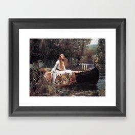 The Lady Of Shalott Framed Art Print