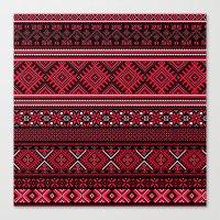 "greek Canvas Prints featuring GREEK pattern by ""CVogiatzi."