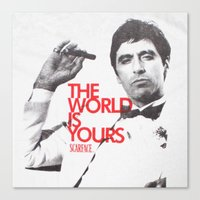 scarface Canvas Prints featuring SCARFACE by I Love Decor