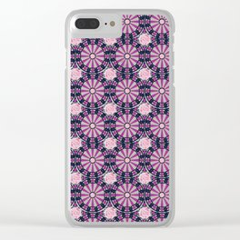 Frenetic Pattern Clear iPhone Case