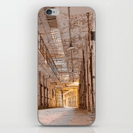 Glowing Prison Corridor iPhone Skin