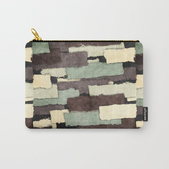 Textured Layers Abstract Carry-All Pouch