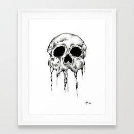 Melting Skull Framed Art Print
