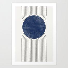 Blue Perfect Balance Art Print