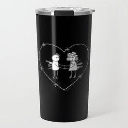 Crazy love - No text - Black background Travel Mug