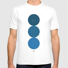 blue i 001 White MEDIUM Mens Fitted Tee
