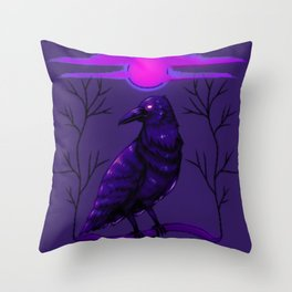 Rise of the Raven Throw Pillow