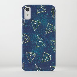 Tetrahedral Molecular Geometry Constellation Art iPhone Case