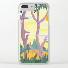 The trees surrounded me and I could see straight through them Clear iPhone Case