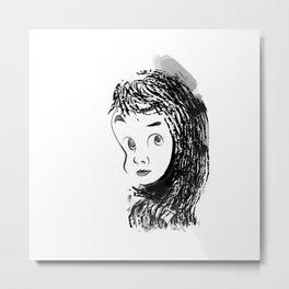 shy. Metal Print