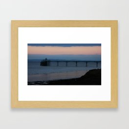 Clevedon Pier Sunset Framed Art Print