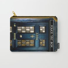 Tardis doctor who Mashup with sherlock holmes 221b door Carry-All Pouch