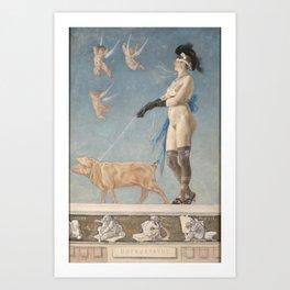 Pornocrates (1878) -Félicien Rops Art Print