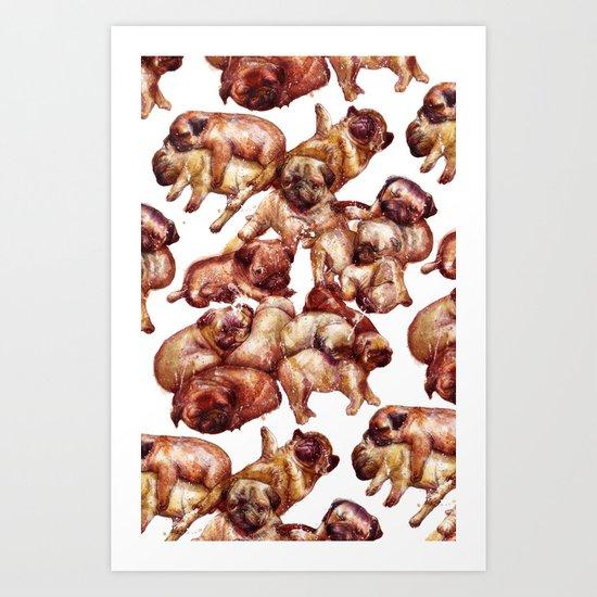 pug village Art Print