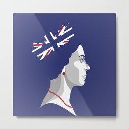 Portrait of Her Majesty The Queen Elizabeth II Metal Print