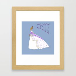 The Bouffant Bride in White with Satin Bows Framed Art Print