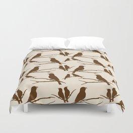 Rustic Brown Bird Duvet Cover