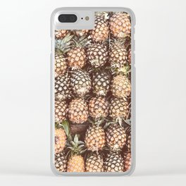 Pineapple Pattern Clear iPhone Case