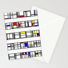 "Math Art Digital Print - ""mondRian"" Stationery Cards"
