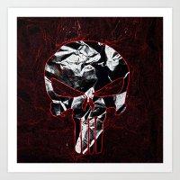 punisher Art Prints featuring Punisher 1 by Beastie Toyz