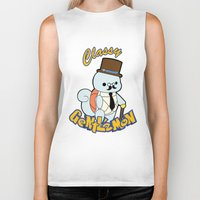 squirtle Biker Tanks featuring Classy Squirtle by tshirtsz