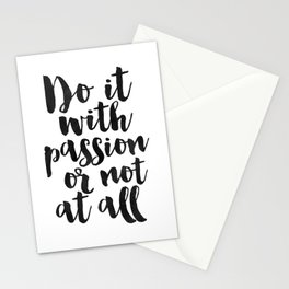 PRINTABLE Art, Do It With Passion Or Not At All, Inspirational Quote,Office Decor,office Sign,Home O Stationery Cards