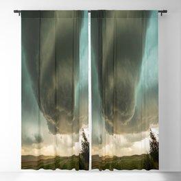 Beehive - Spiraling Storm Hovers Over Western Nebraska Landscape Blackout Curtain