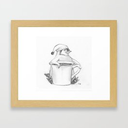 Penguin Tea Party Framed Art Print