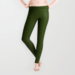 Dark Olive Green Sage - Accent Color Decor - Lowest Price On Site Leggings