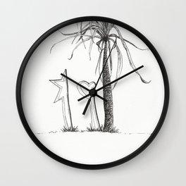 Alone En La Vida Wall Clock